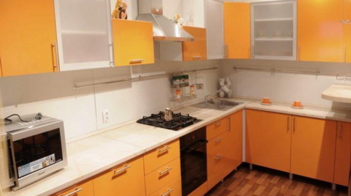 черно оранжевая кухня под заказ в киеве