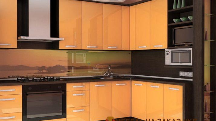 кухня оранжевого цвета на заказ Ирпень