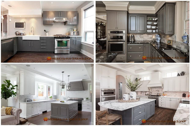 кухня серого цвета на заказ Киев