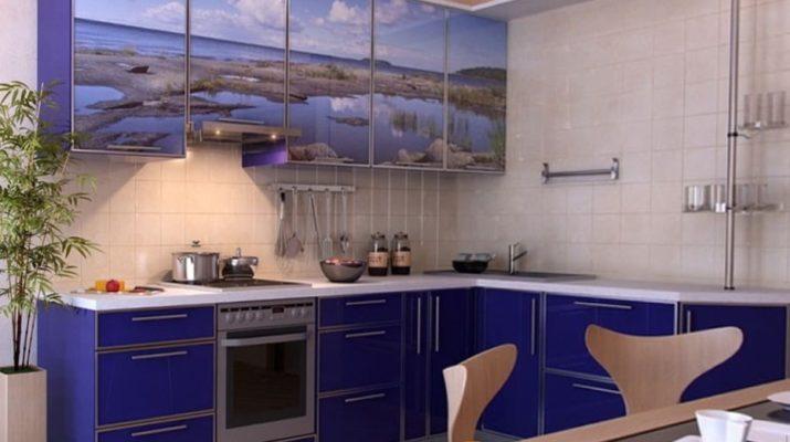темно синяя кухня