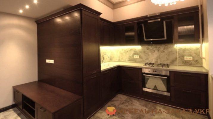 кухня с дсп фасадами цвета Венге