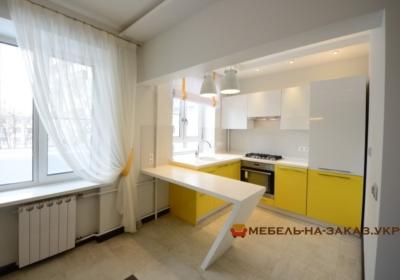 желтая кухня на заказ в Киеве