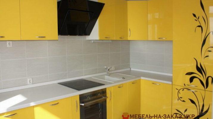 оттенки желтого цвета кухни
