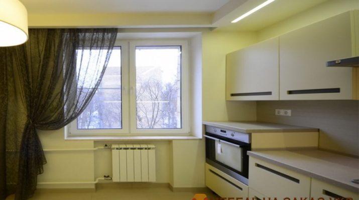 деревянная желтая кухня на заказ Киев