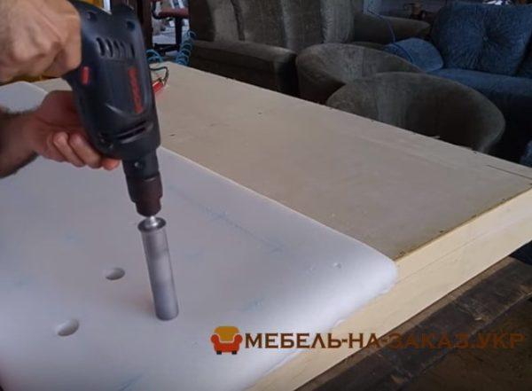 процесс изготовления мягкого изголовья крвоати