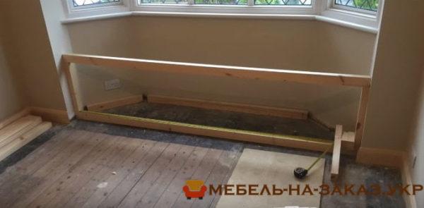 как делают мебель в эркер под заказ в Киеве
