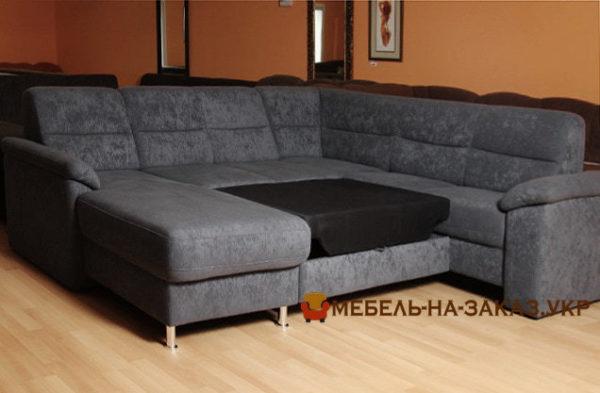 п образный диван со спальным местом под заказ в Киеве