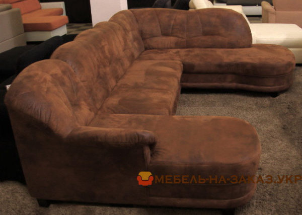 коричневый п образный диван на заказ
