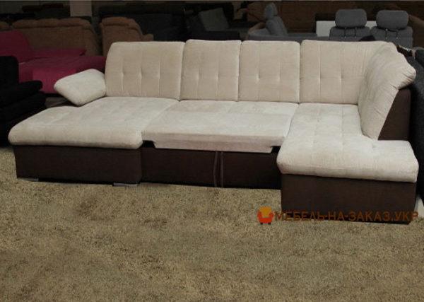 диван из двух цветов