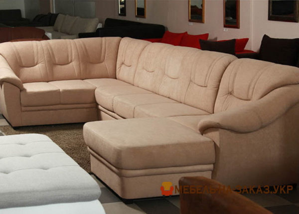 недорогой п образный диван