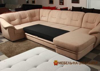 недорогой п образный диван на заказ