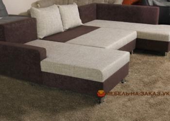 недорогой п образный диван на заказ со спальным местом