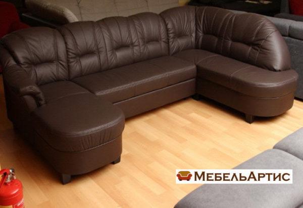 синий п образный диван модерн на заказ в Киеве