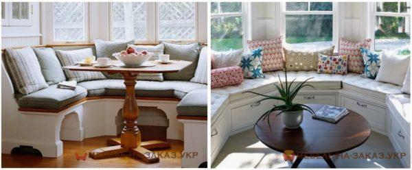 эркерная мягкая мебель