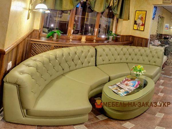 радиусный диван честер для отеля на заказ
