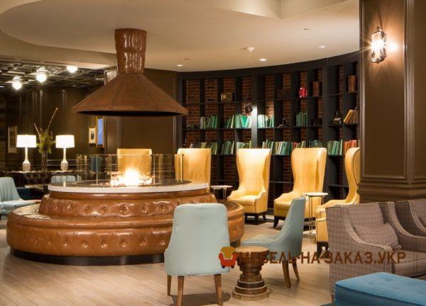 дизайн мягкой мебели отеля