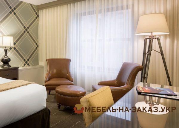 мягкая мебель для номеров отеля на заказ