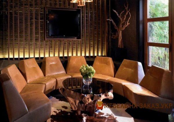 элитный круглый диван на заказ
