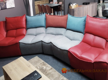 авторский диван из кожи