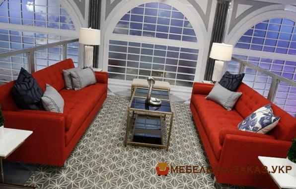 красная мягкая мебель под заказ Украина