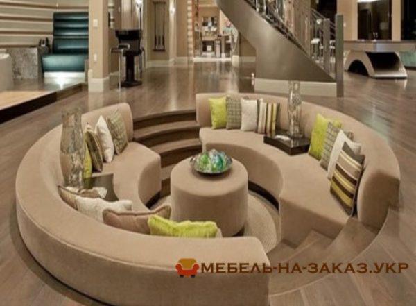 комплект радиусной мягкой мебели в отель