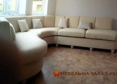 полукруглый белый диван Ирпень