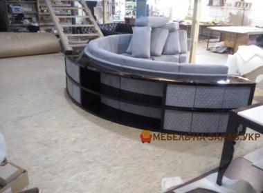 комплект круглой авторской мебели под заказ для гостиной