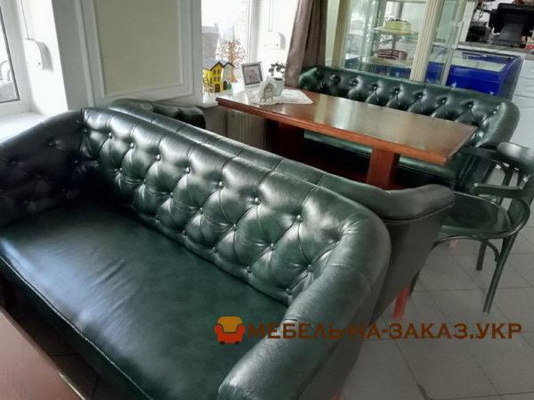 заказать диван с каретной перетяжкой в ресторан на заказ
