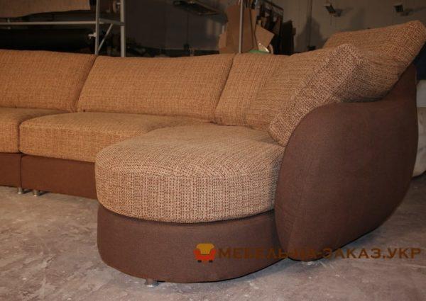 радиусный диван в холл отеля под заказ