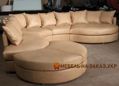 радиусная мягкая мебель для отеля под заказ в Киеве