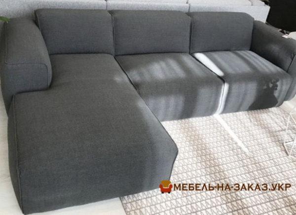 диван угловой серый из трех секций