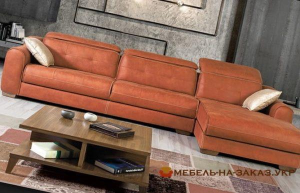 диван из двух секций из кожи