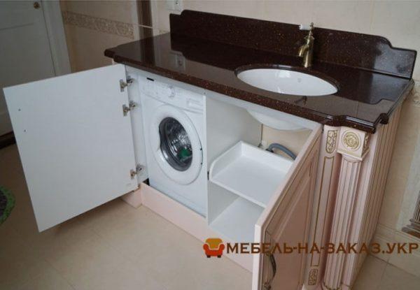 Изготовление авторской мебели для ванной на заказ Вишневое