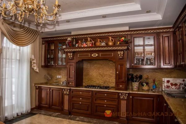деревянная кухня авторская на заказ