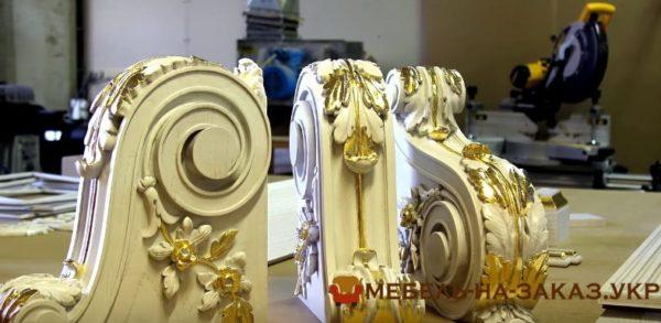 покрытие золотом деревянной мебели