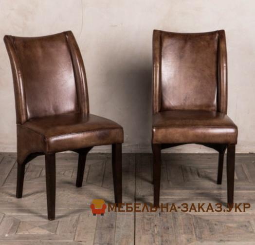 стулья со спинкой из натуральной кожи