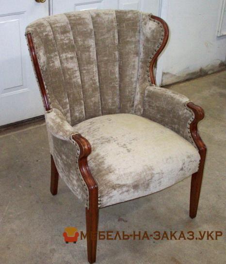 кресло с вельветовой оббивокй