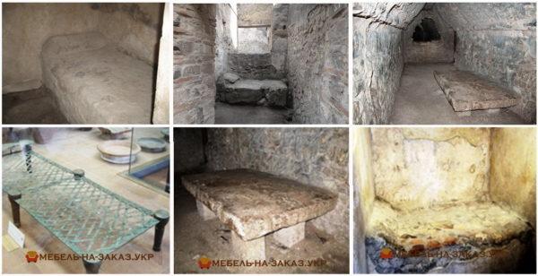 первые кровати из камня