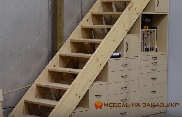заказать мебель под лестницу