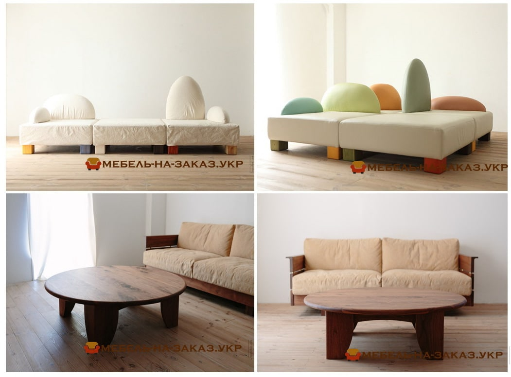 заказать прямой диван в стиле лофт