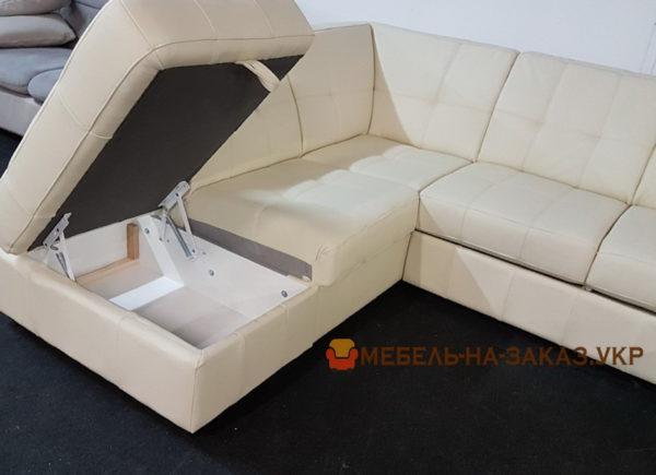 спальный диван с нишей для белья