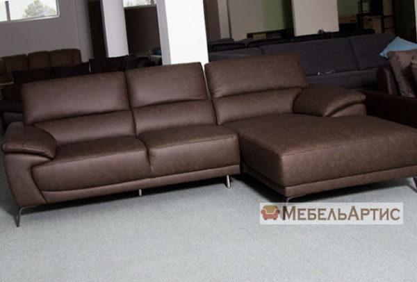 коричневый диван угловой