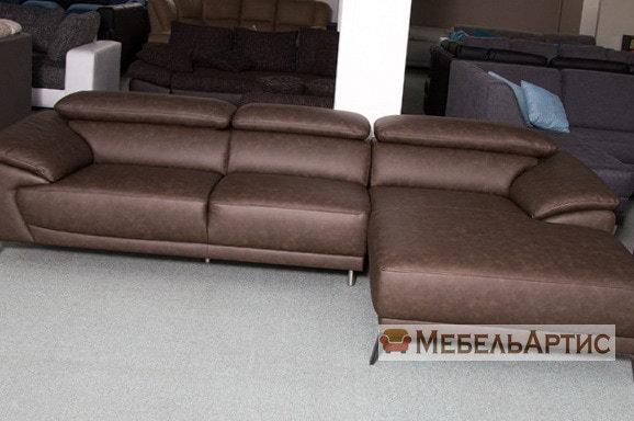 офисный коричневый диван на заказ