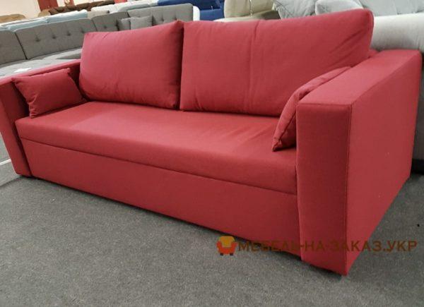раскладной красный диван спальный на заказ