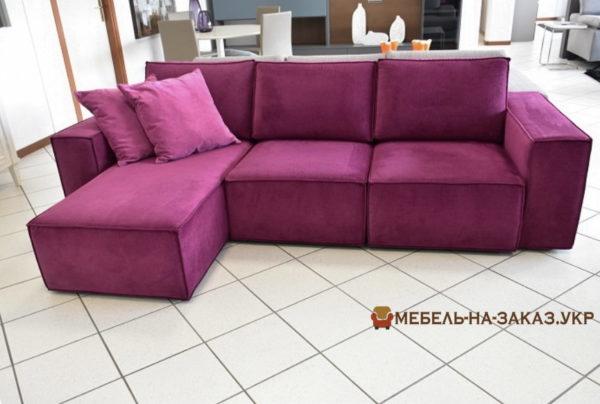 авторская мягкая мебель сиреневого цвета на заказ