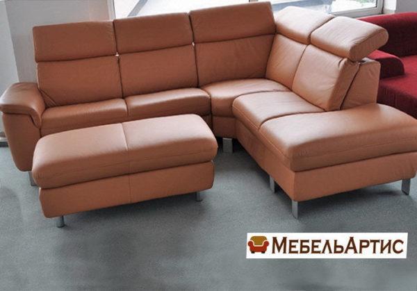 офисный диван с пуфом на заказ