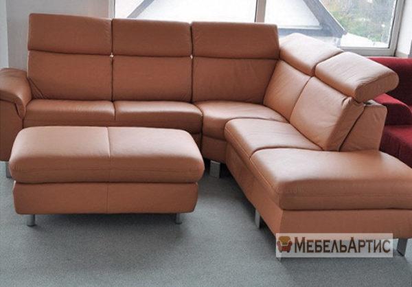 рыжий офисный диван на заказ в Киеве