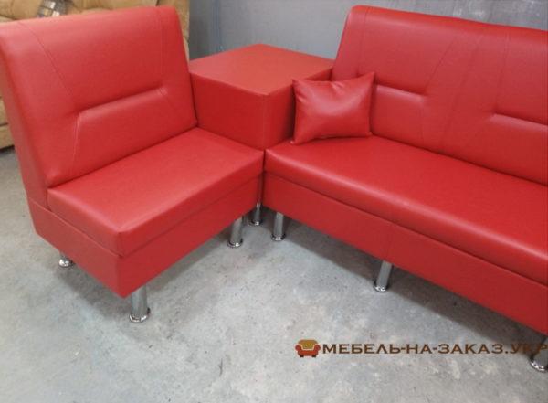 красный офисный диван на заказ