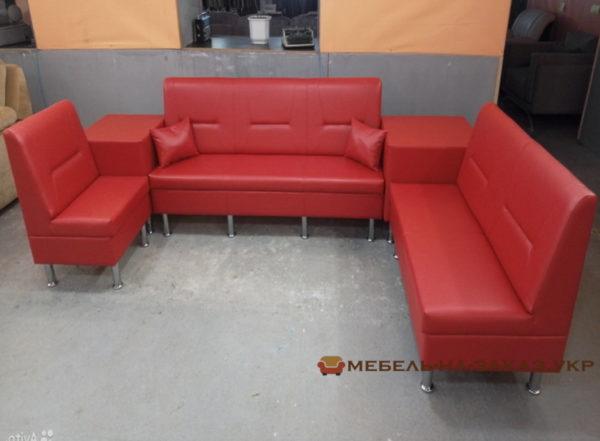 красный диван в зал ожидания на заказ
