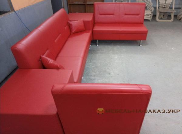 заказать красный модульный диван